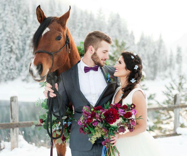 Свадебная съемка зимой фото