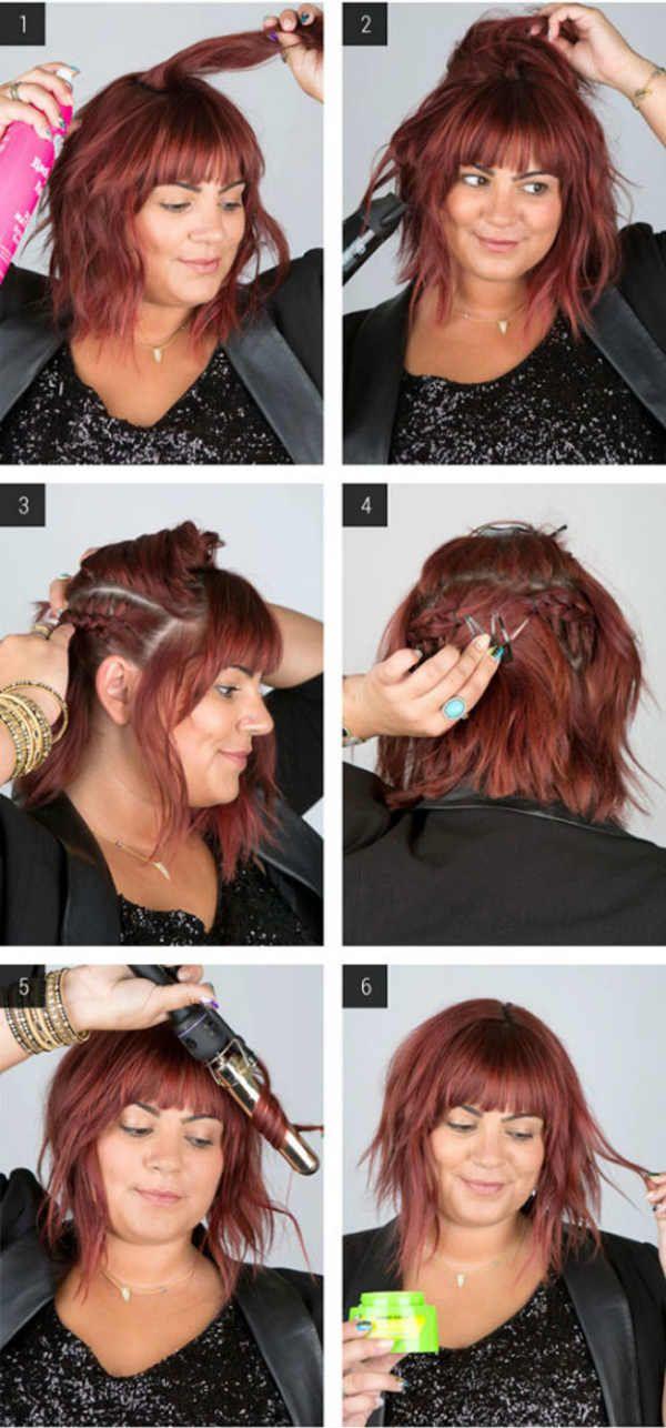 Скрытые косы фото