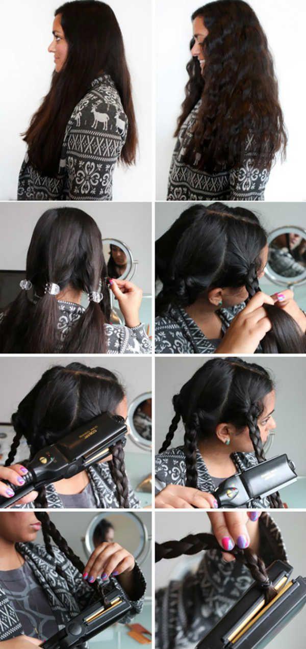 Способ 7 завивки локонов утюжком фото