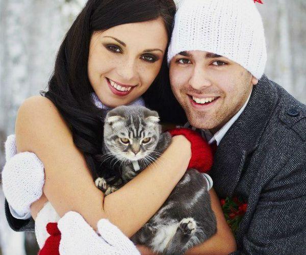 Невеста с кошечкой фото