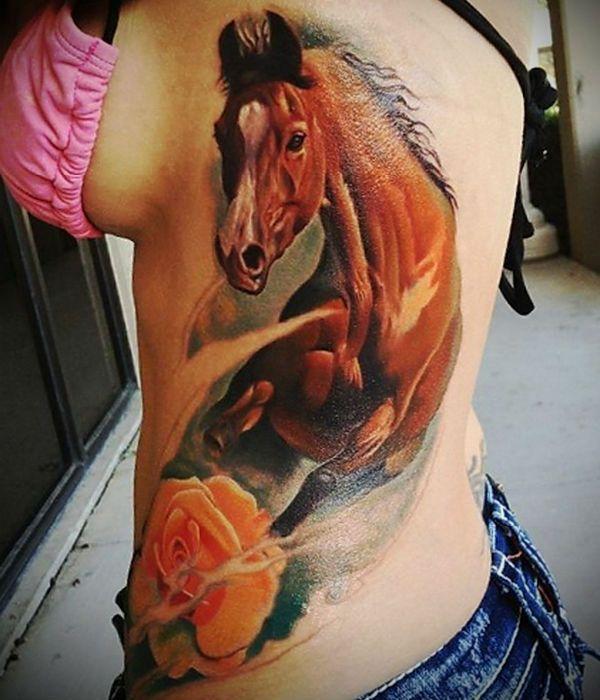 3д тату лошади фото