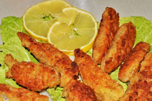 Домашние рыбные палочки фото
