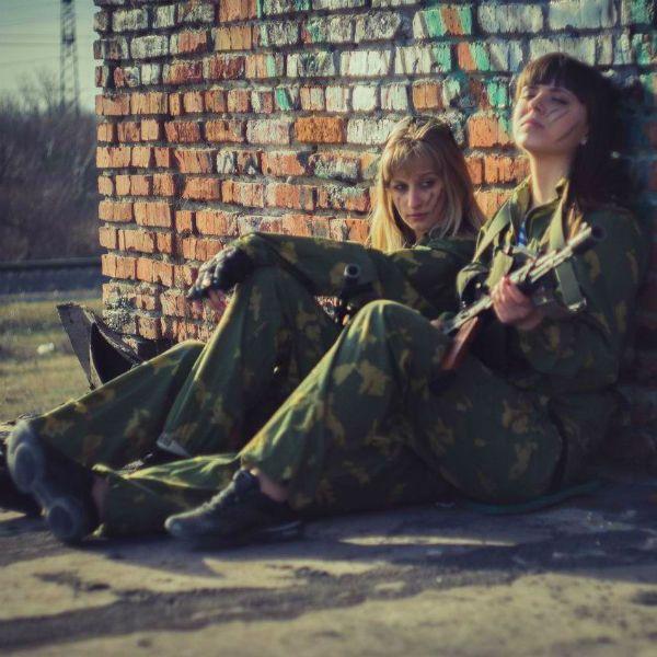 Фотозона в военном стиле милитари фото