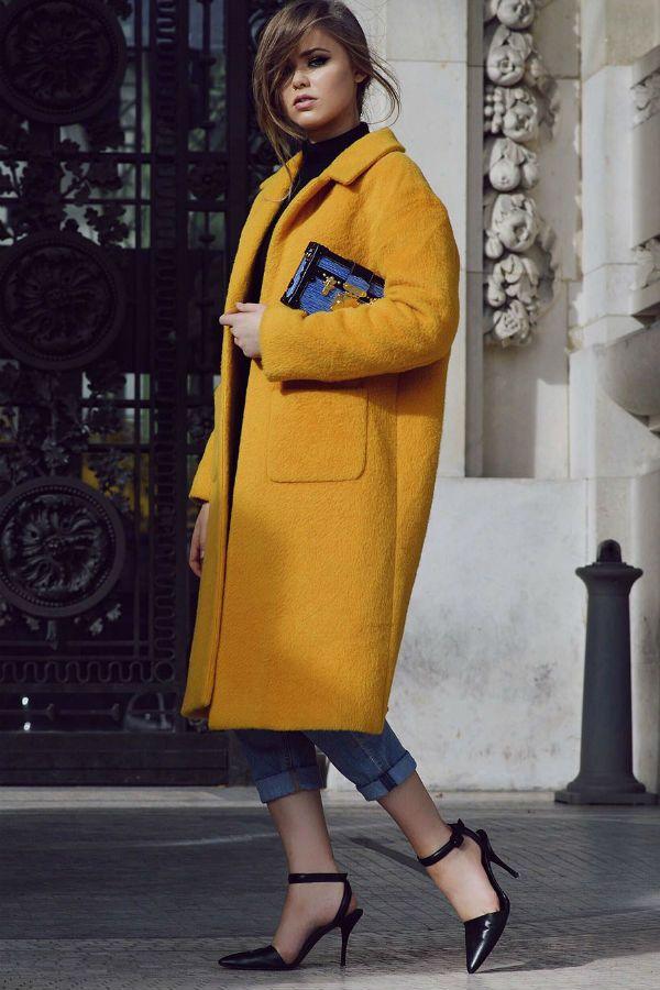 Длинное пальто фото