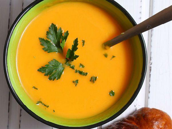 Грибной суп с тыквой фото
