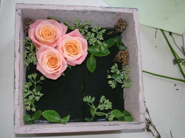 Коробка с цветами 4 фото
