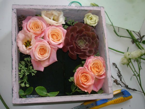Коробка с цветами 5 фото