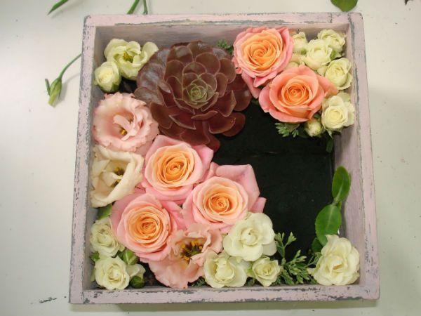 Коробка с цветами 6 фото