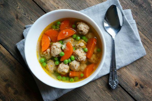 Овощной суп с фрикадельками фото