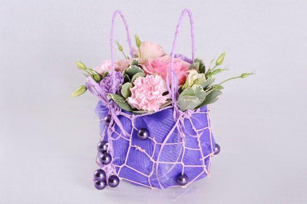 Сумочка с цветами 10 фото