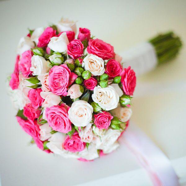 Свадебный букет из роз 2 фото