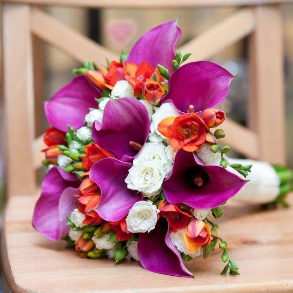 Свадебный букет из калл 2 фото