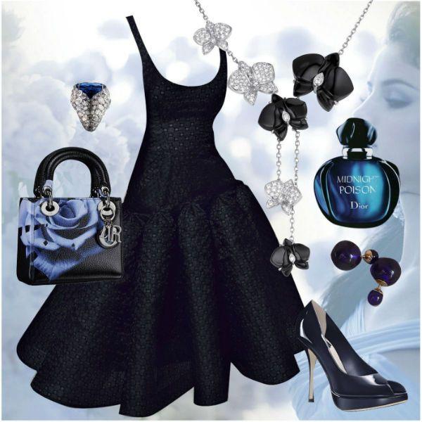 Аксессуары под черное платье 21 фото