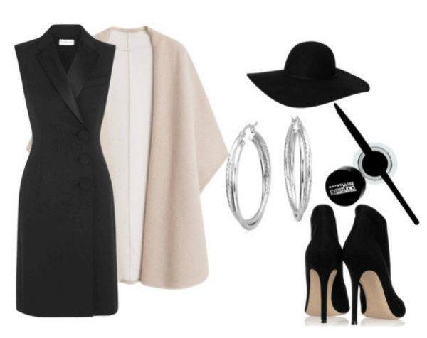 Аксессуары под черное платье 49 фото