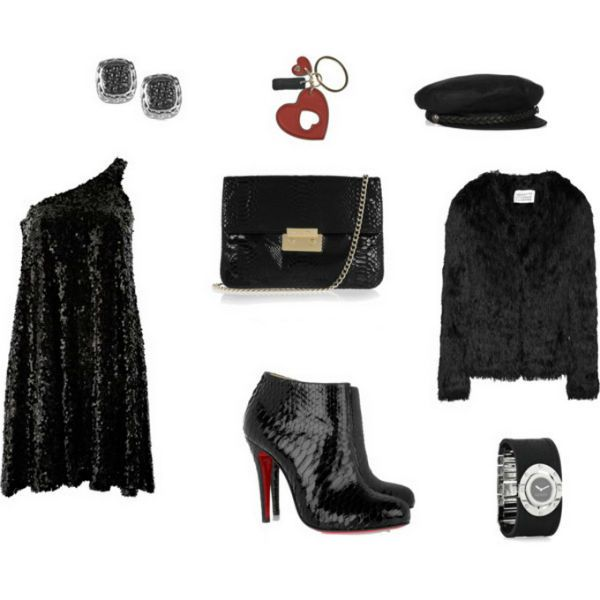 Аксессуары под черное платье 61 фото