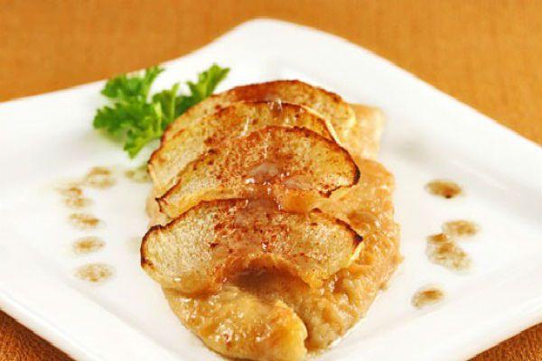 Филе с яблоками фото