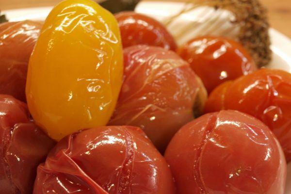 Из квашеных помидоров фото