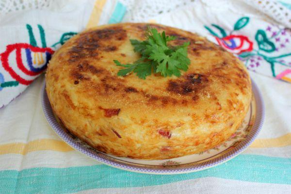 Картофельная бабка с курицей по-белорусски фото