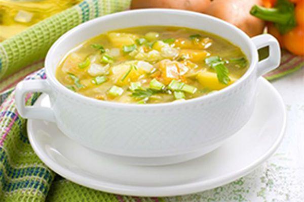 Картофельный суп с луком-порей фото