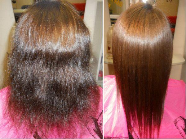 Кератиновое выпрямление волос 10 фото