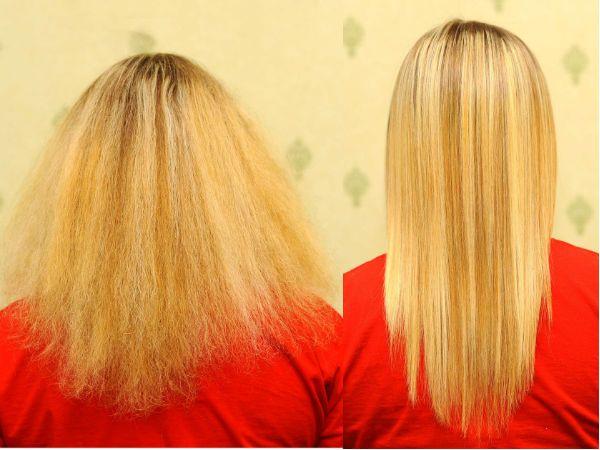 Кератиновое выпрямление волос 16 фото