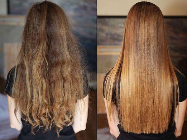 Кератиновое выпрямление волос 17 фото
