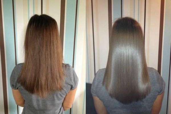 Кератиновое выпрямление волос 3 фото
