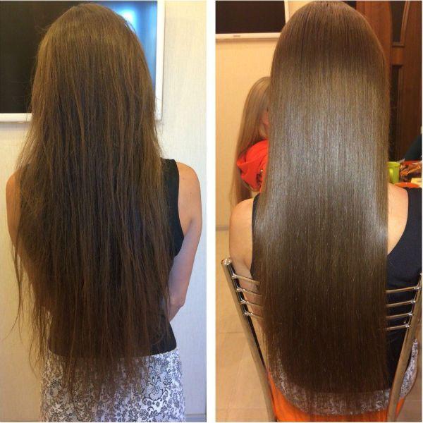 Кератиновое выпрямление волос 5 фото