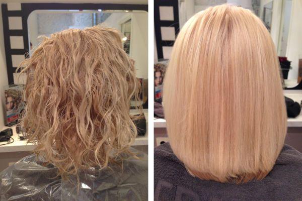 Кератиновое выпрямление волос 6 фото