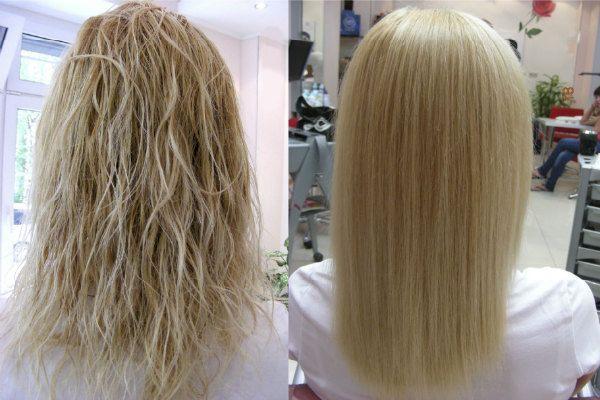 Кератиновое выпрямление волос 8 фото