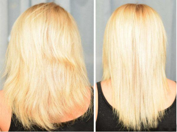 Кератиновое выпрямление волос 9 фото