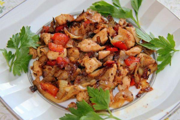 Филе с запеченными овощами фото