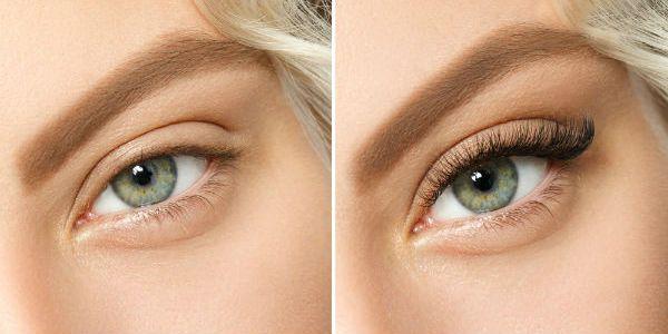 Наращивание ресниц до и после 1 фото
