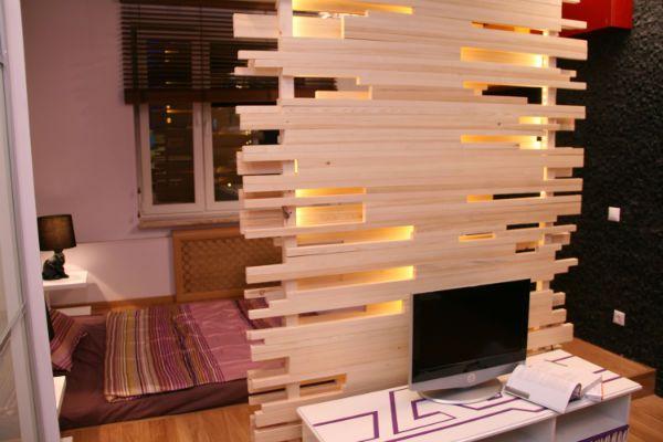 Деревянная перегородка 4 фото