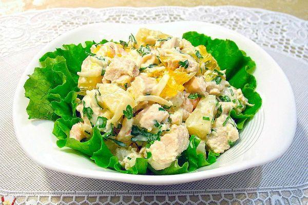 Салат по-гавайски фото