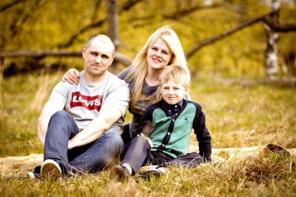 Семья осенью фото