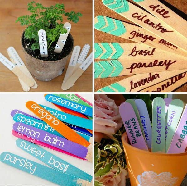 Бирки для растений фото