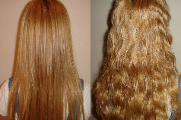 Карвинг длинных русых волос фото