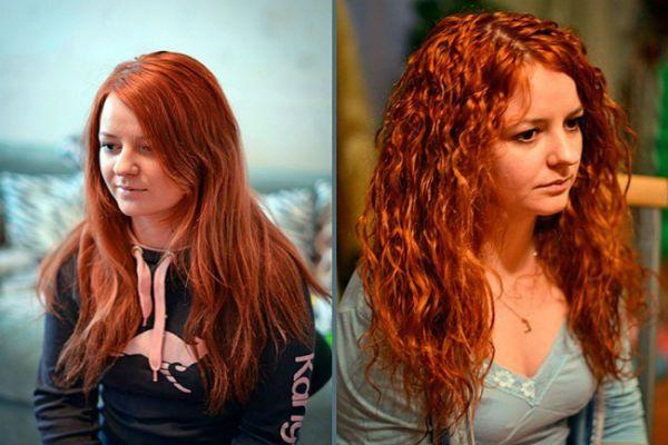 Карвинг длинных рыжих волос фото
