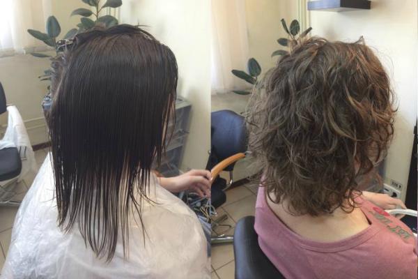 Карвинг каштановых коротких волос фото