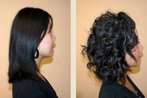 Карвинг коротких черных волос фото