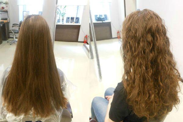 Карвинг русых длинных волос фото