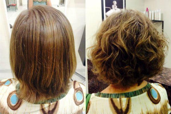 Карвинг русых коротких волос фото