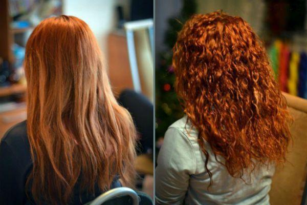 Карвинг рыжих волос фото