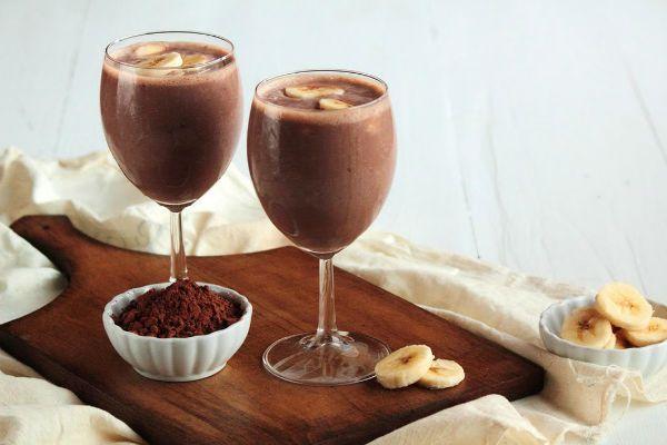 Коктейль бананово-шоколадный фото