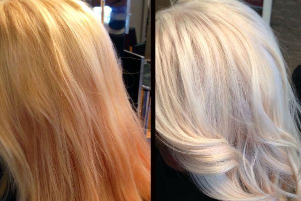 Холодный серебристый блонд фото