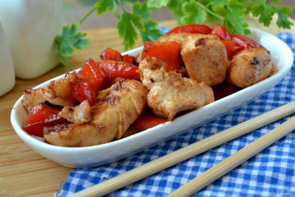 Курица в кисло-сладком соусе по-китайски фото