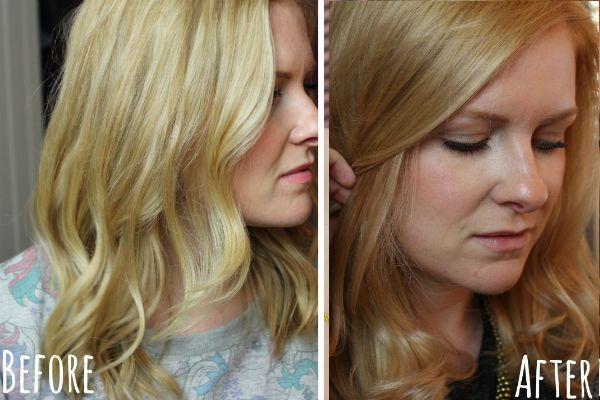 Придание  светлым волосам теплого тона фото