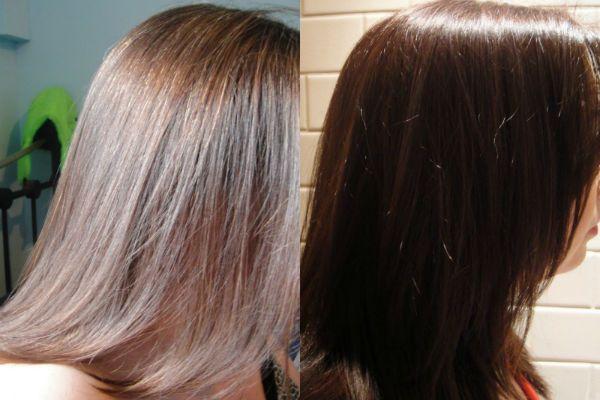 Тонирование волос в темный цвет фото