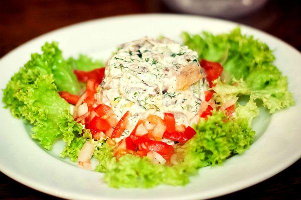 Салат из языка фото